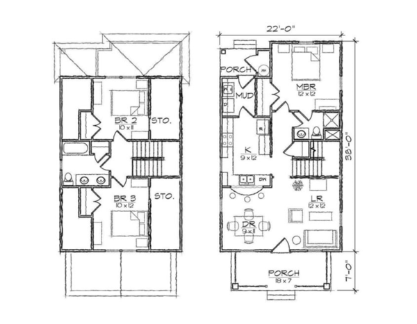 Craftsman Floor Plan - Other Floor Plan Plan #936-3