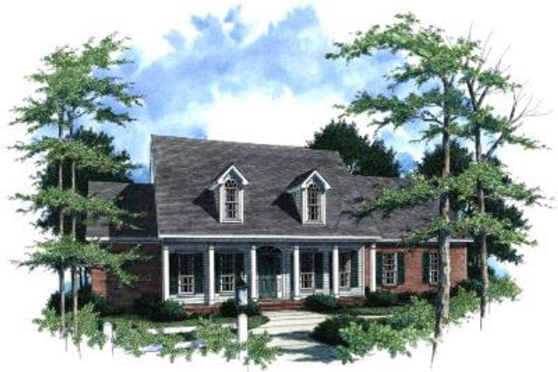 Traditional Exterior - Front Elevation Plan #37-192 - Houseplans.com