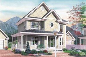 Cottage Exterior - Front Elevation Plan #23-257