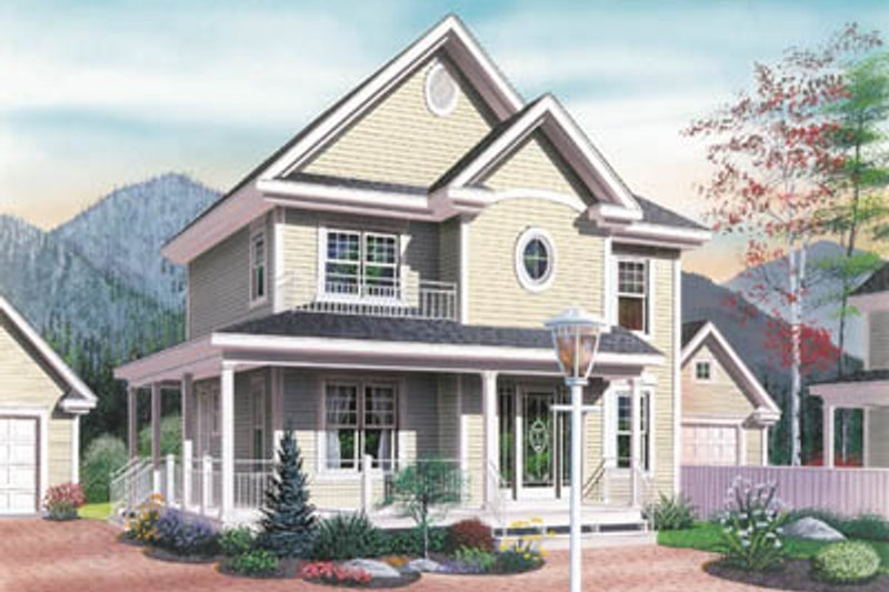 Cottage Style House Plan - 3 Beds 2.5 Baths 1604 Sq/Ft Plan #23-257 Exterior - Front Elevation