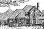 European Style House Plan - 4 Beds 3 Baths 3615 Sq/Ft Plan #310-135 Exterior - Front Elevation