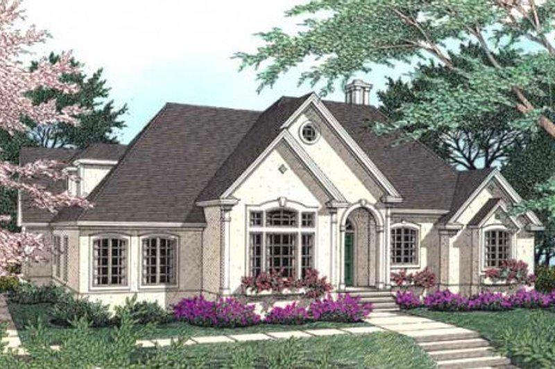 Dream House Plan - European Exterior - Front Elevation Plan #406-181