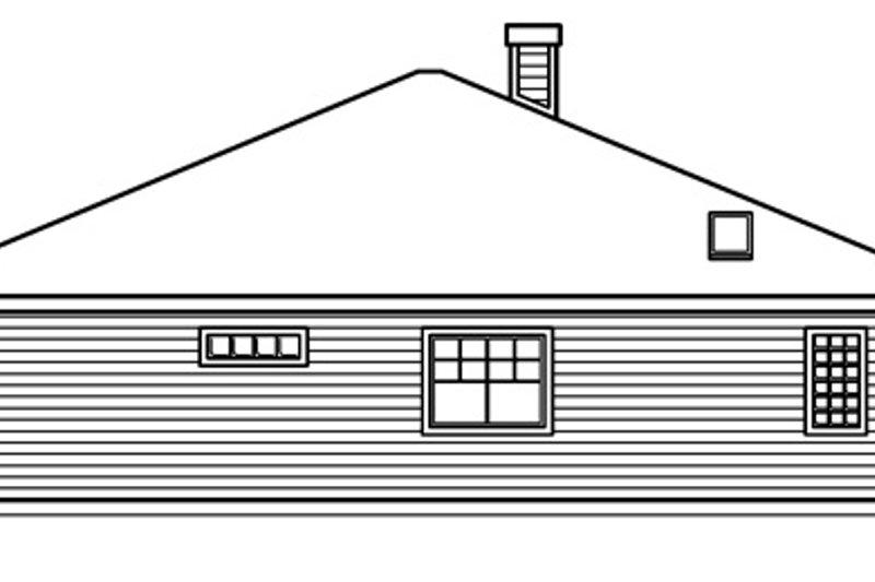 Cottage Exterior - Other Elevation Plan #124-364 - Houseplans.com