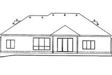 Architectural House Design - European Exterior - Rear Elevation Plan #20-2151