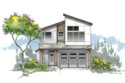 Craftsman Style House Plan - 3 Beds 2.5 Baths 1631 Sq/Ft Plan #53-645 Exterior - Front Elevation