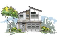 Architectural House Design - Craftsman Exterior - Front Elevation Plan #53-645