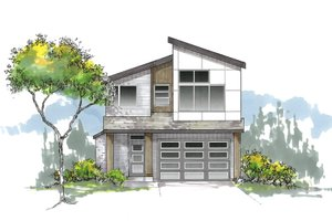 Craftsman Exterior - Front Elevation Plan #53-645