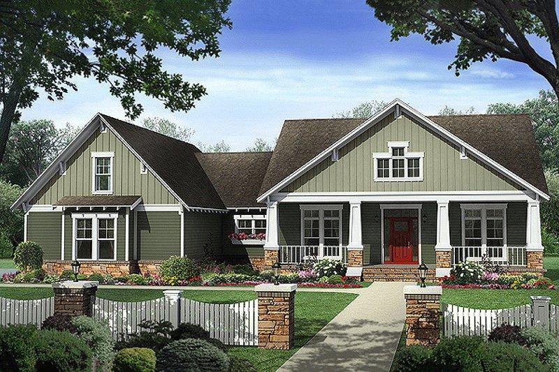 Dream House Plan - Craftsman Exterior - Front Elevation Plan #21-361
