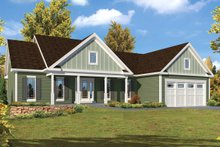 Ranch Exterior - Front Elevation Plan #57-639