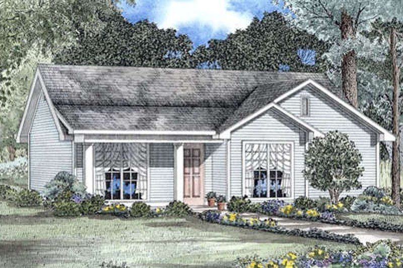 Farmhouse Style House Plan - 3 Beds 1.5 Baths 1029 Sq/Ft Plan #17-163 Exterior - Front Elevation