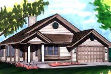 Dream House Plan - Ranch Exterior - Front Elevation Plan #320-333