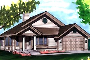 Ranch Exterior - Front Elevation Plan #320-333
