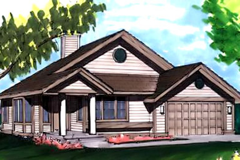 Ranch Exterior - Front Elevation Plan #320-333 - Houseplans.com