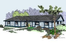 Ranch Exterior - Front Elevation Plan #60-518