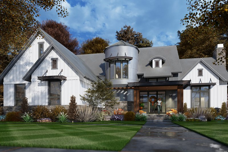 Home Plan - Contemporary Exterior - Front Elevation Plan #120-268