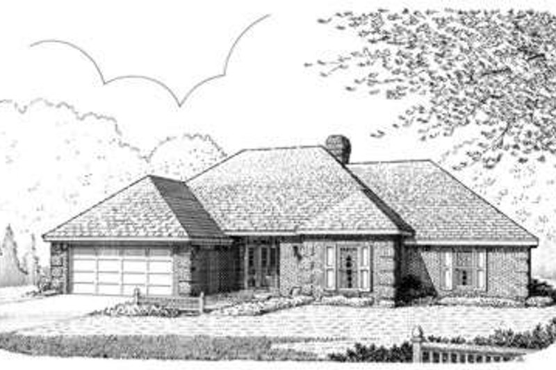 European Exterior - Front Elevation Plan #410-324 - Houseplans.com
