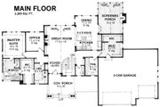 Craftsman Style House Plan - 4 Beds 2.5 Baths 4289 Sq/Ft Plan #51-575 Floor Plan - Main Floor