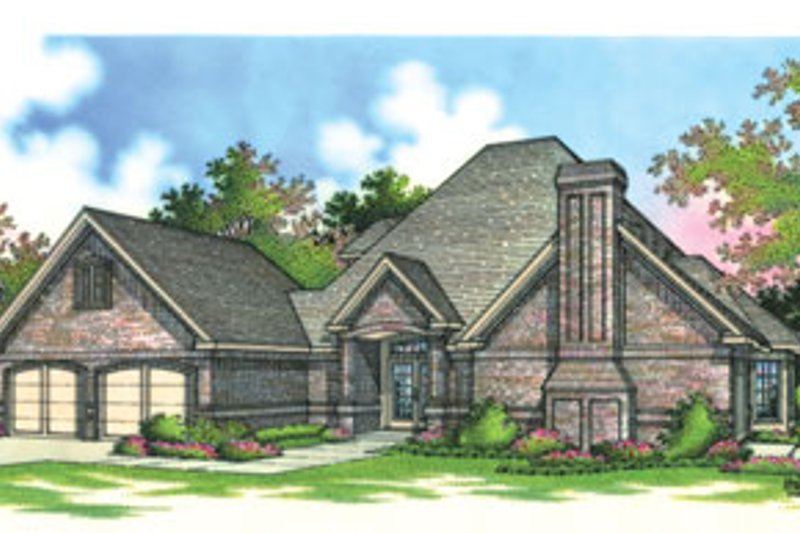 European Exterior - Front Elevation Plan #45-196 - Houseplans.com