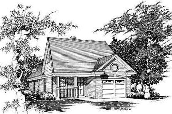 Cottage Exterior - Front Elevation Plan #329-169
