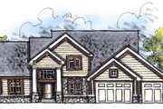 Craftsman Style House Plan - 4 Beds 2.5 Baths 2498 Sq/Ft Plan #70-623 Exterior - Front Elevation