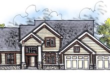 Craftsman Exterior - Front Elevation Plan #70-623