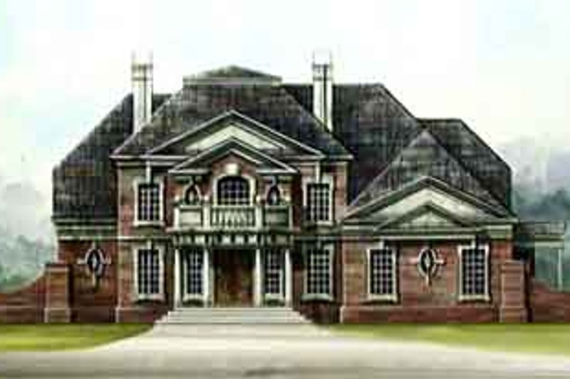 Colonial Style House Plan - 4 Beds 3.5 Baths 3159 Sq/Ft Plan #119-126 Exterior - Front Elevation