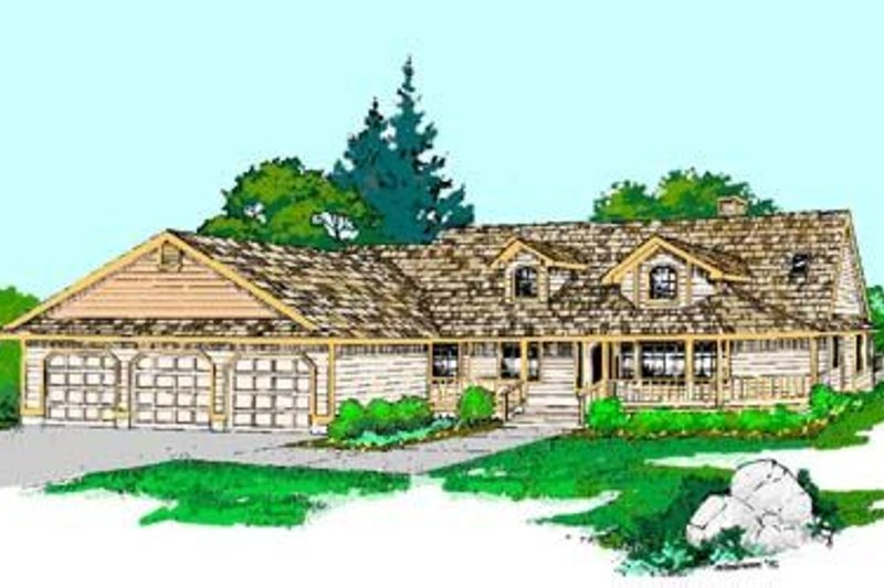 Ranch Exterior - Front Elevation Plan #60-278 - Houseplans.com