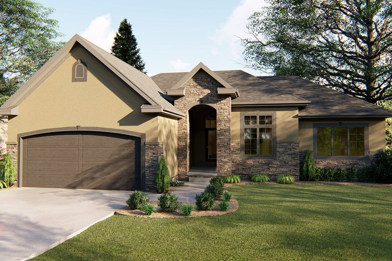 Traditional Exterior - Front Elevation Plan #455-227