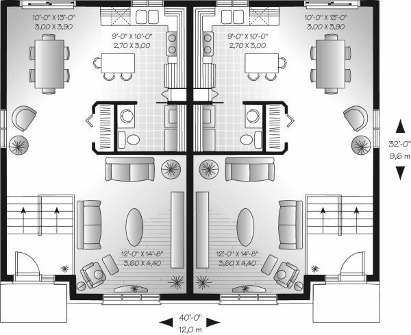 Colonial Floor Plan - Main Floor Plan Plan #23-679