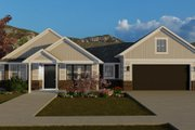 Traditional Style House Plan - 3 Beds 2 Baths 1990 Sq/Ft Plan #1060-59 Exterior - Front Elevation