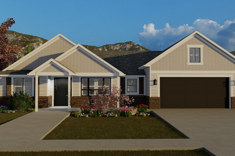 Architectural House Design - Traditional Exterior - Front Elevation Plan #1060-59