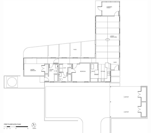 Modern Floor Plan - Main Floor Plan Plan #488-1