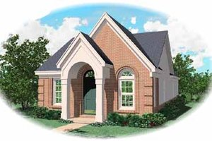 Southern Exterior - Front Elevation Plan #81-125