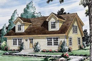 Colonial Exterior - Front Elevation Plan #312-588