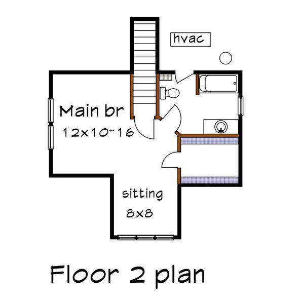 Cottage Floor Plan - Upper Floor Plan Plan #79-141