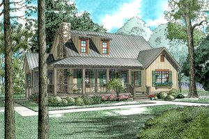 Country Exterior - Front Elevation Plan #17-2017