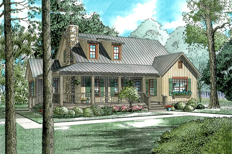 House Plan Design - Country Exterior - Front Elevation Plan #17-2017