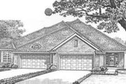 Traditional Style House Plan - 3 Beds 2 Baths 3401 Sq/Ft Plan #310-460 Exterior - Front Elevation