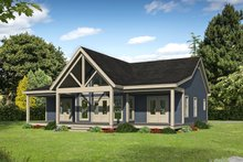 House Design - Country Exterior - Rear Elevation Plan #932-254