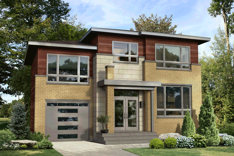Dream House Plan - Contemporary Exterior - Front Elevation Plan #25-4915