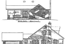 Country Exterior - Rear Elevation Plan #14-223