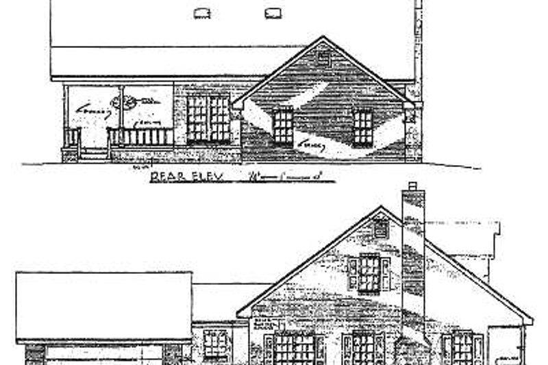 Country Exterior - Rear Elevation Plan #14-223 - Houseplans.com