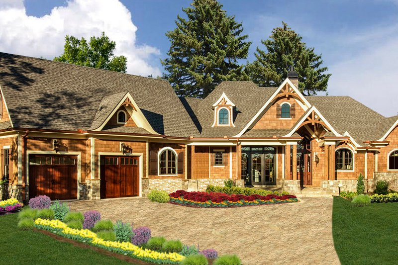 Craftsman Exterior - Front Elevation Plan #54-412