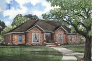 European Style House Plan - 4 Beds 2.5 Baths 2444 Sq/Ft Plan #17-139 Exterior - Front Elevation