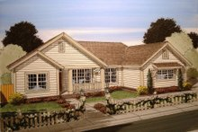 Home Plan - Country Exterior - Front Elevation Plan #513-8