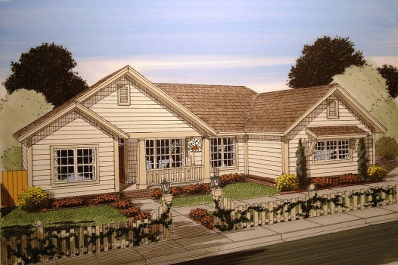Country Exterior - Front Elevation Plan #513-8 - Houseplans.com