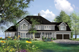 Home Plan - Country Exterior - Front Elevation Plan #25-4883