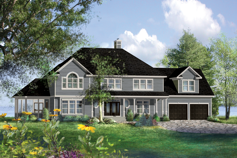House Plan Design - Country Exterior - Front Elevation Plan #25-4883