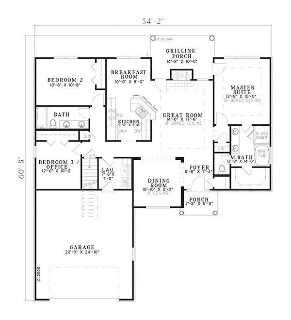 European Floor Plan - Main Floor Plan #17-2378