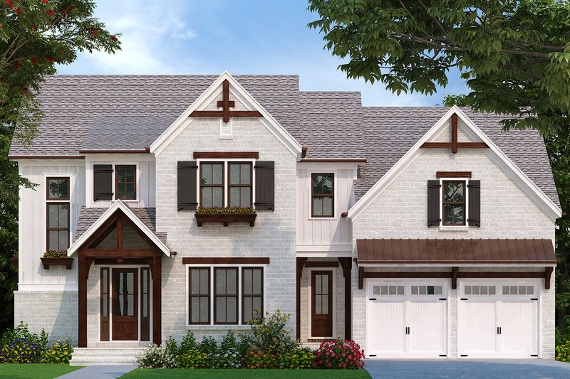 House Plan Design - Traditional Exterior - Front Elevation Plan #927-1005